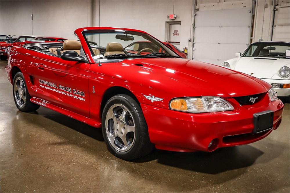 10k-Mile 1994 Mustang Cobra Pace Car Convertible 5-Speed